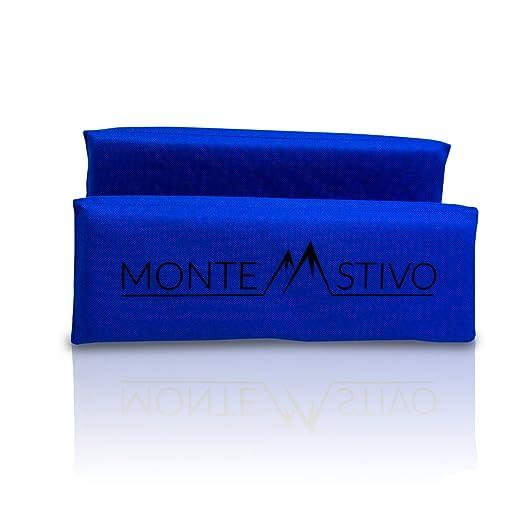 Negro Monte Stivo Expedition para Senderismo coj/ín Plegable en 4 Asiento Exterior 30x40 cm Asiento para ni/ños y Adultos