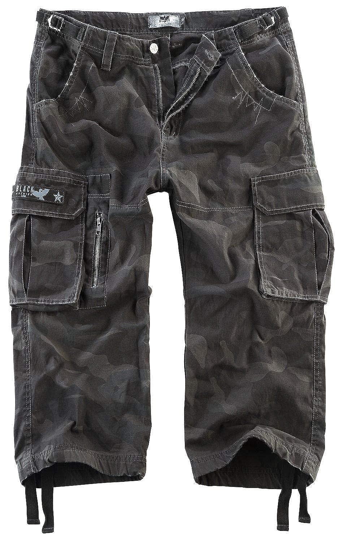 Schwarz Premium by EMP 3 4 Army Vintage Shorts Short darkcamo