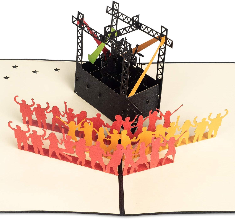 PaperCrush Biglietto tridimensionale pop-up di compleanno Rot