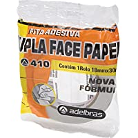 Adelbras 813000004, Fita Dupla Face, Folhas Ow-Pack, 18 x 30 m, Multicolor