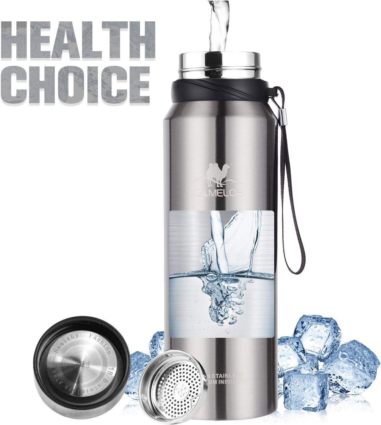 Diller Thermos Bottiglia Acciaio Inossidabile di Isolamento Tazza da Viaggio da caff/è Sport Acqua IT9803 580ml, Bianco