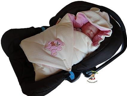 blueberryshop chaqueta térmica para asiento de coche para/manta para bebé (Tejido de rizo