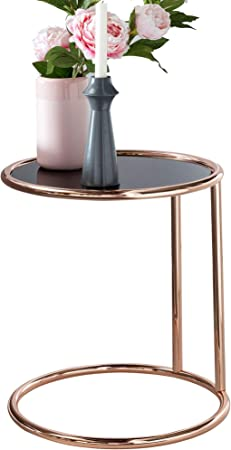 Finebuy Table D Appoint Design En Metal Et En En Verre 45 Cm De