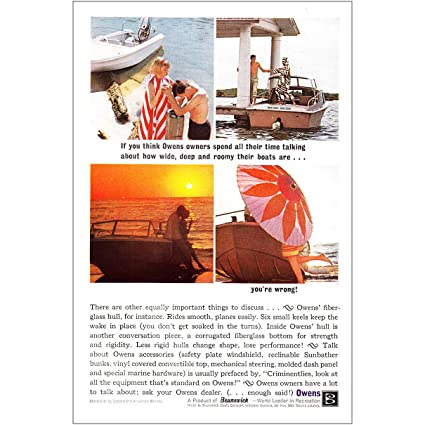 Amazon com: RelicPaper 1963 Owens Boats: Owners Spend All