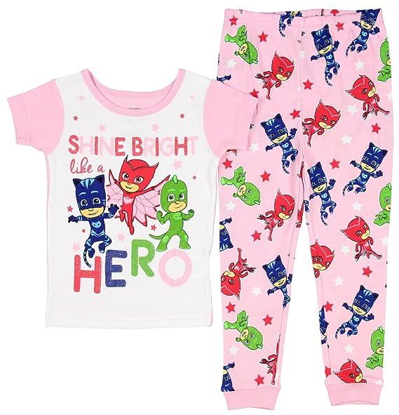 PJ Masks Shine Bright Like A Hero Little Girls Toddler 2 PC Pajama Set (