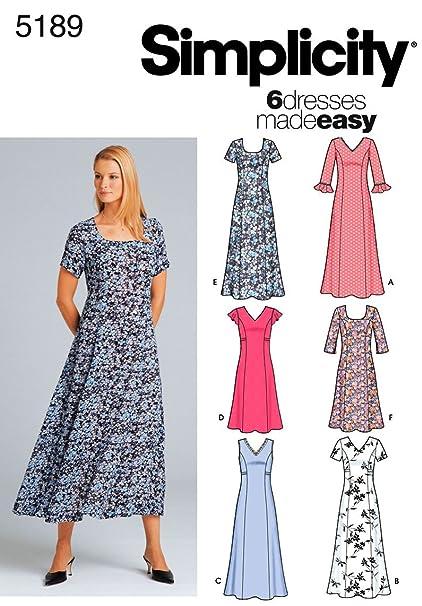 39925d653cc Amazon.com  Simplicity Sewing Pattern 5189 Misses Dresses