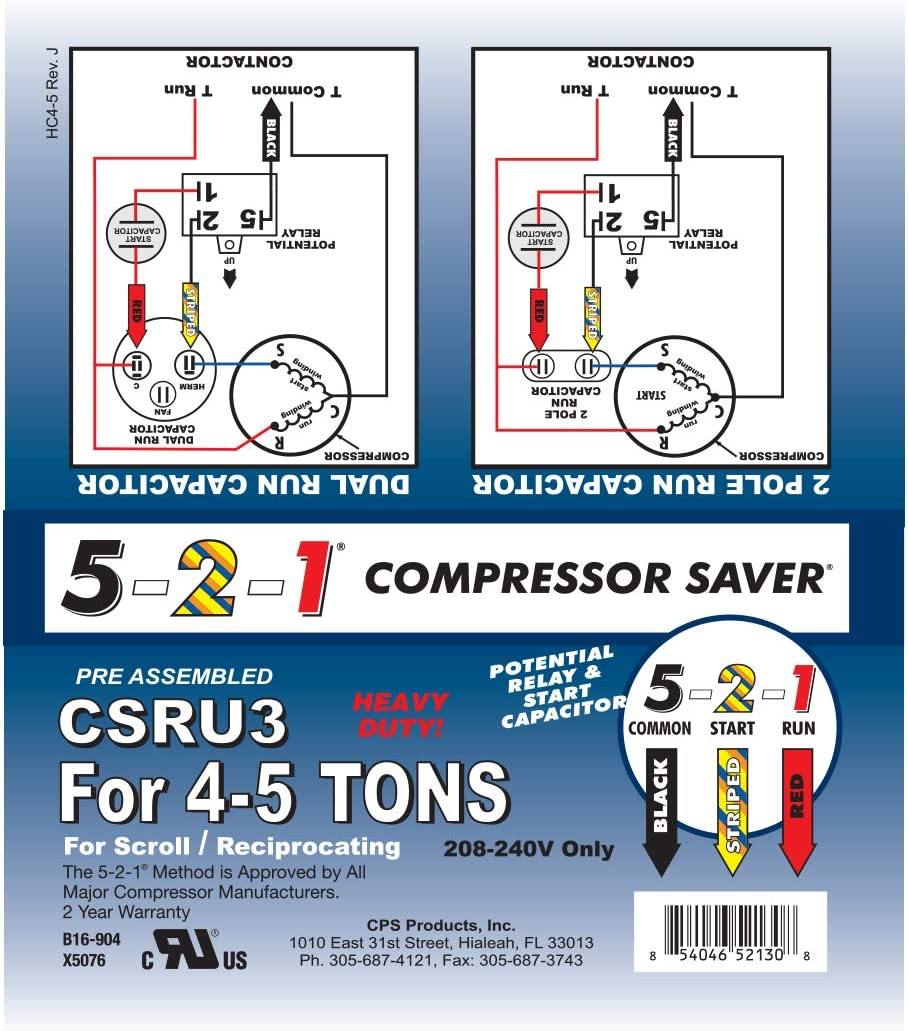 5 2 1 Csru2 Compressor Saver For 3 12 To 5 Ton Units Amazon Com