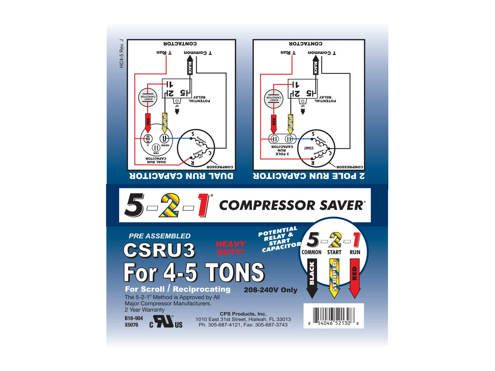 5-2-1 CSRU2 Compressor Saver for 3-1/2 to 5 Ton Units by CPS (Image #2)