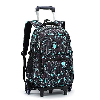 4ec87235c30e UEK Trolley Backpack Rolling Backpack Wheeled School Bag Removable  Travelling Bags (6 Wheels)  Amazon.co.uk  Luggage