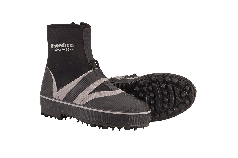 Snowbee Herren Rockhopper Spike Sohle Sohle Sohle Waten Stiefel Einheitsgröße schwarz grau a37807