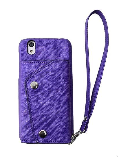 【ACHURA】 SHARP シャープ AQUOS ZETA SH-01H docomo/AQUOS Xx2 502SH スマホケース 携帯ケース  直張り 合皮 PU素材 パープル 紫