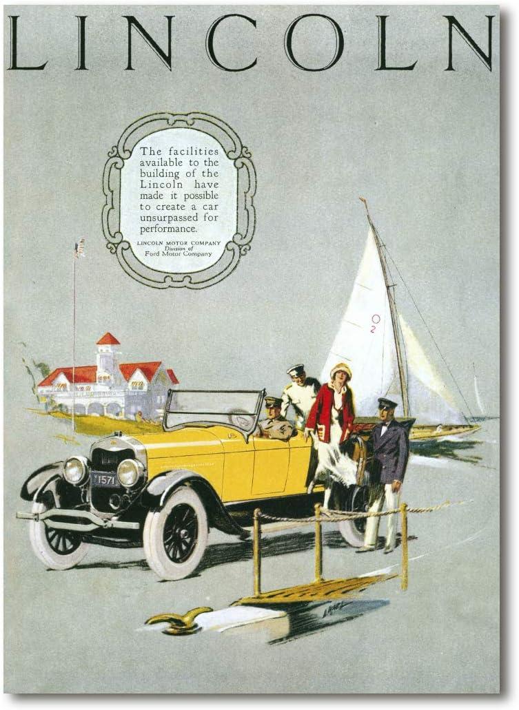 Cuadro Decoratt: Lincon - Carteles antiguos 62x86cm. Cuadro de impresión directa.