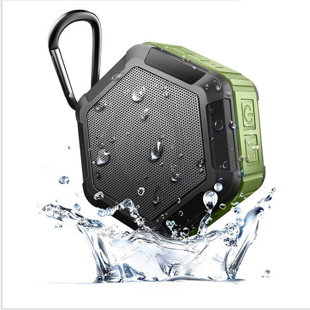 QAZWSX Outdoor Climbing Waterproof Bluetooth Speaker Water Proof Bluetooth Speaker IPX7 Water Proof Bluetooth Sound,Green