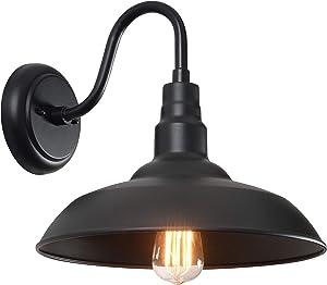 Kenroy Home 93507BL Dale Vintage 1 Outdoor Barn Light, Large, Black