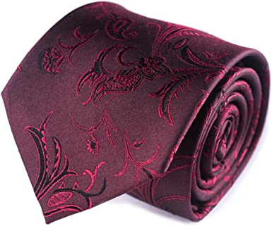 corbatas paisley de hombre burdeos corbatas finas cachemir ...