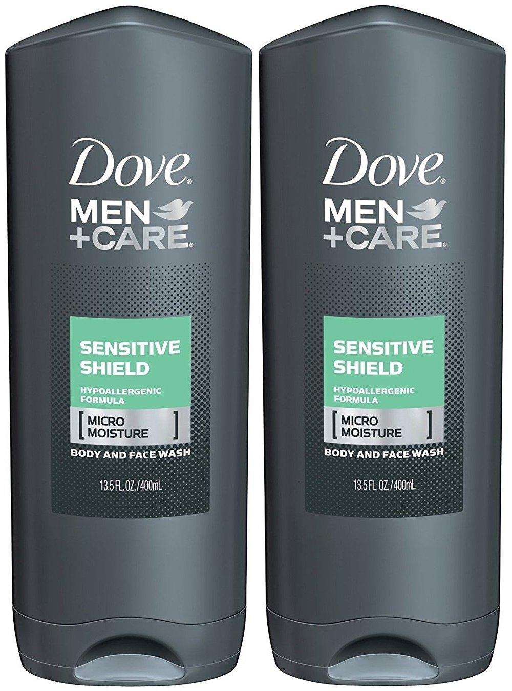 Dove Men+Care Body & Face Wash, Sensitive Shield 13.5 fl oz (pack of 2)