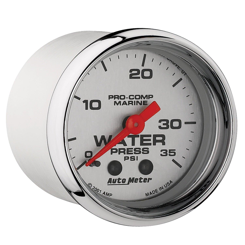 AutoMeter 200772-35 Marine Mechanical Water Pressure Gauge