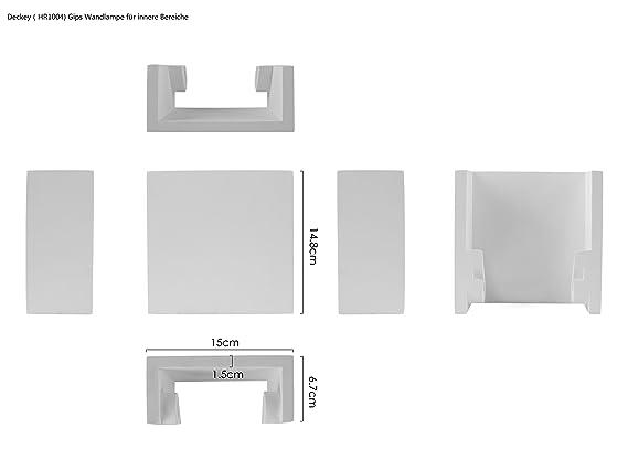 Deckey appliques murales en pl tre w lampe simple blanche