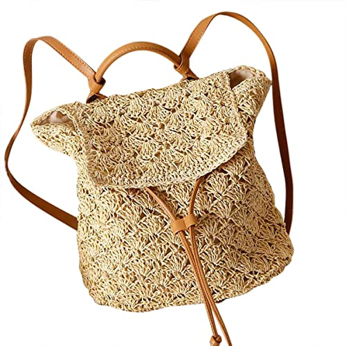 louzheni Bolso de mano Mochila con cordón de ganchillo tejida a mano: Amazon.es: Zapatos y complementos