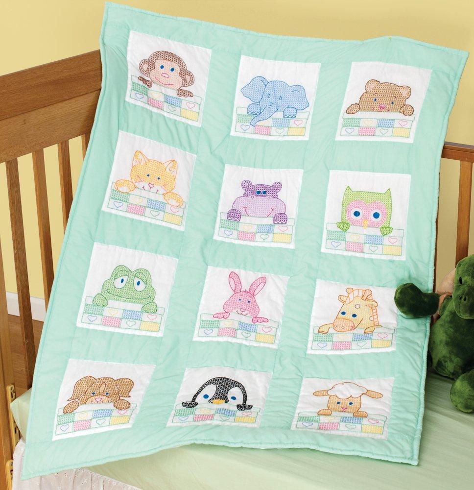 Amazon.com: St&ed White Nursery Quilt Block 9 X9 , 12/pkg, Peek ... : cross stitch quilt kits - Adamdwight.com