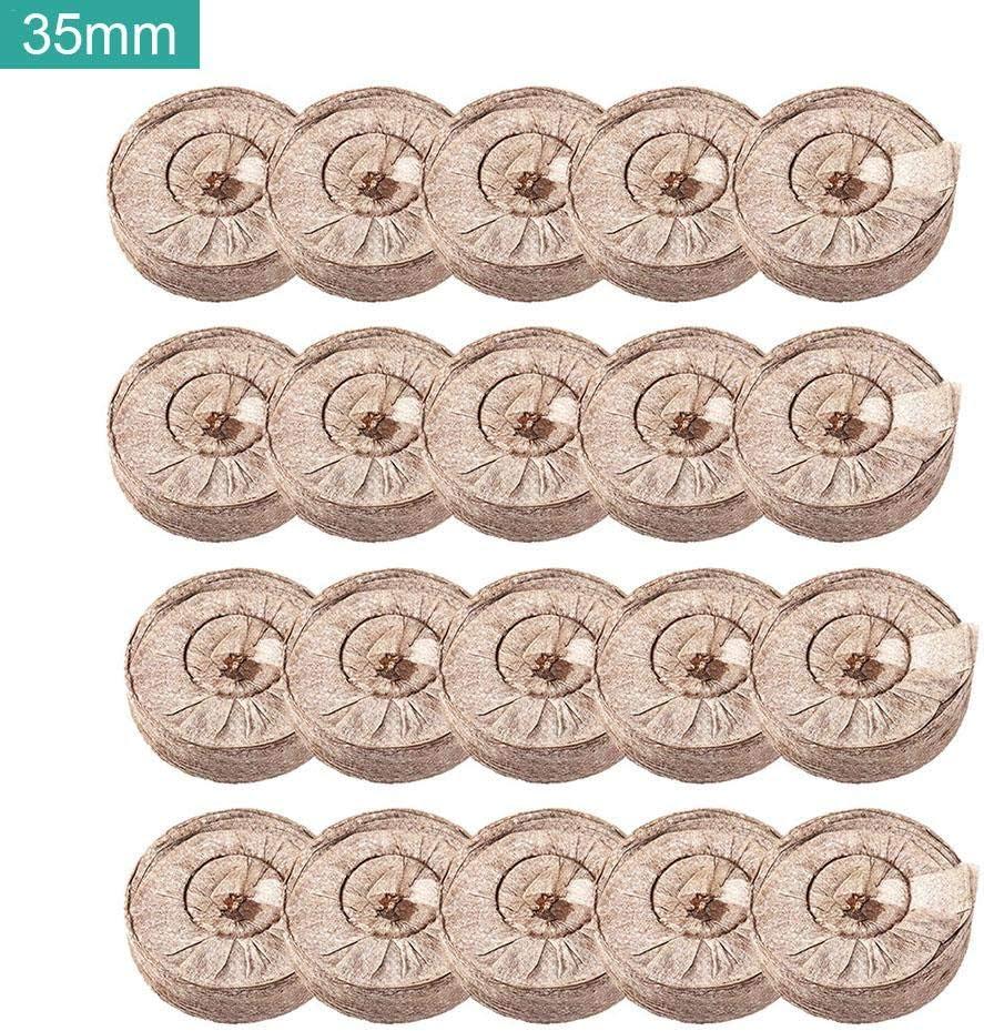 20 pcs Pastille de Tourbe Compress/ée Tourbe Granul/és Bouchons compress/ée Semis Bloc de Sol Tourbe Sol Expansion Rapide pour la Transplantation de Plantation