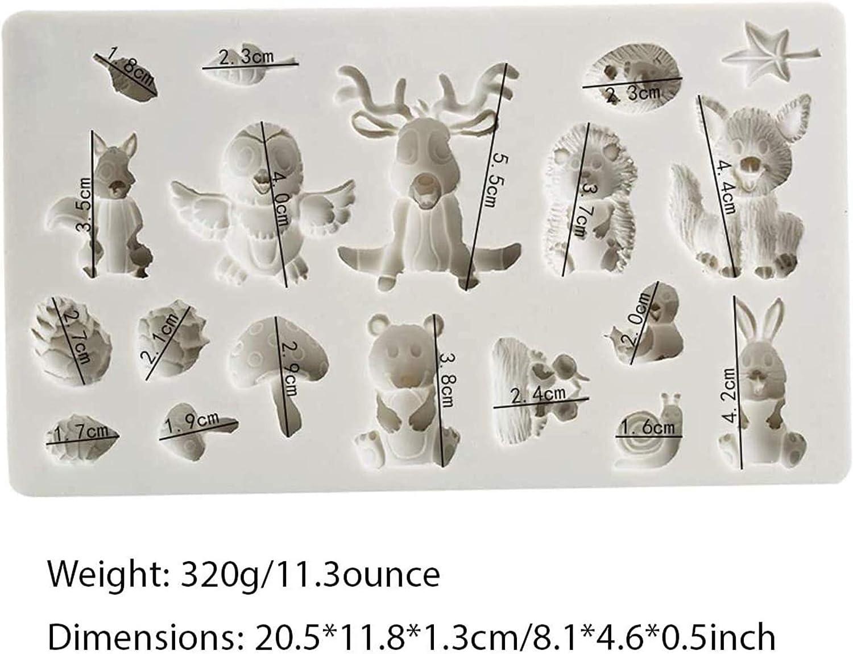Eichh/örnchen Kaninchen Sika Hirsch Igel Pilz Tierformen Silikon Schokoladenformen Wald Tiere Silikonform DIY Backen Fondant Formen Silikon Kuchenform Wald Kuchen Dekorative Mold f/ür DIY Tierformen