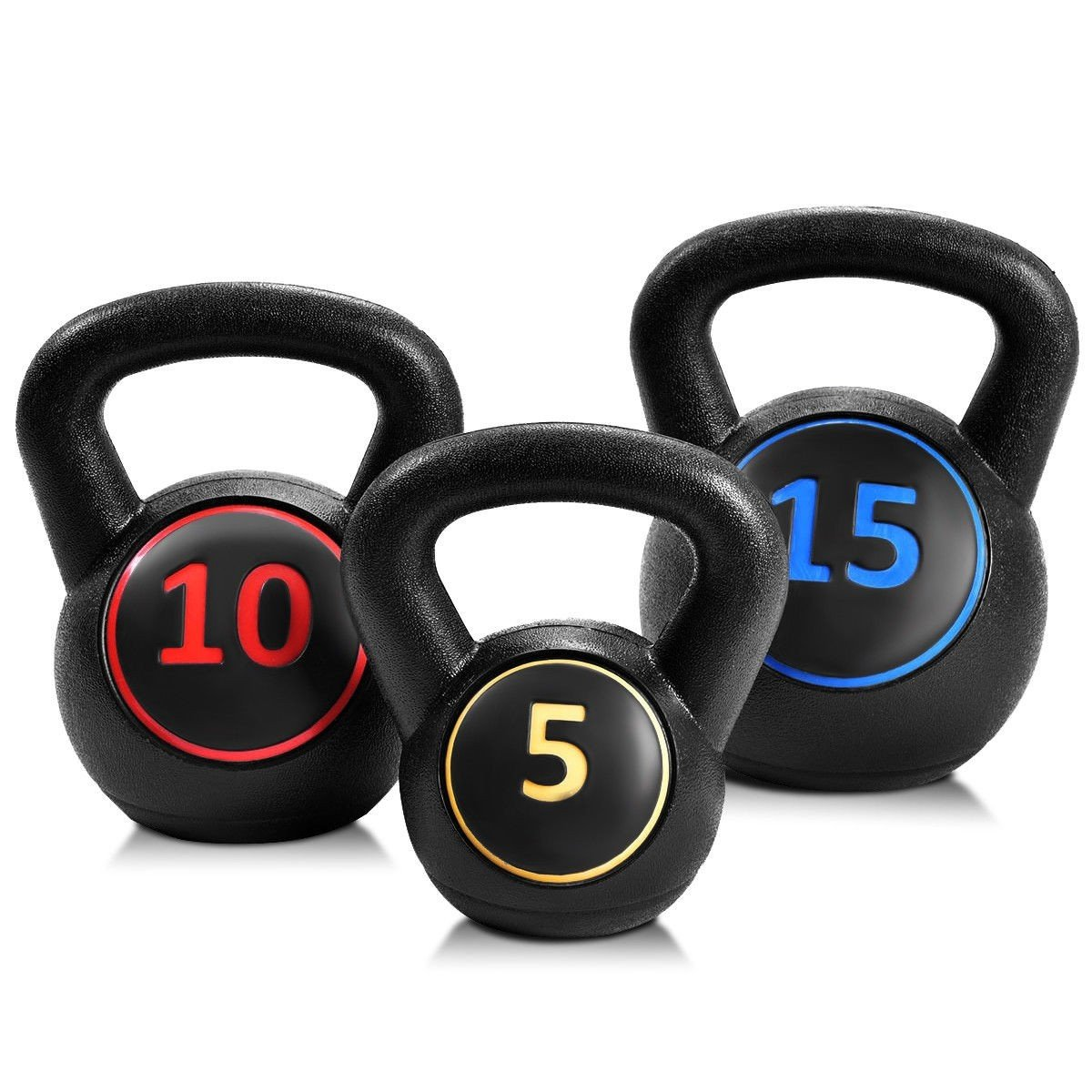 MD Group 3 pcs 5 10 15lbs Kettlebell Kettle Bell Weight Set by MD Group (Image #6)