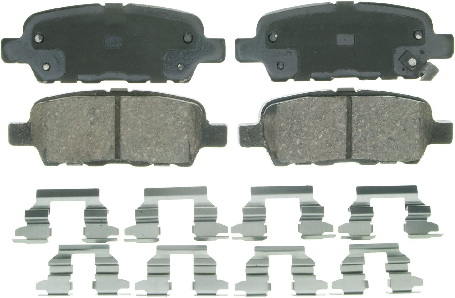 Wagner QuickStop ZD905 Ceramic Disc Pad Set Includes Pad Installation Hardware Rear