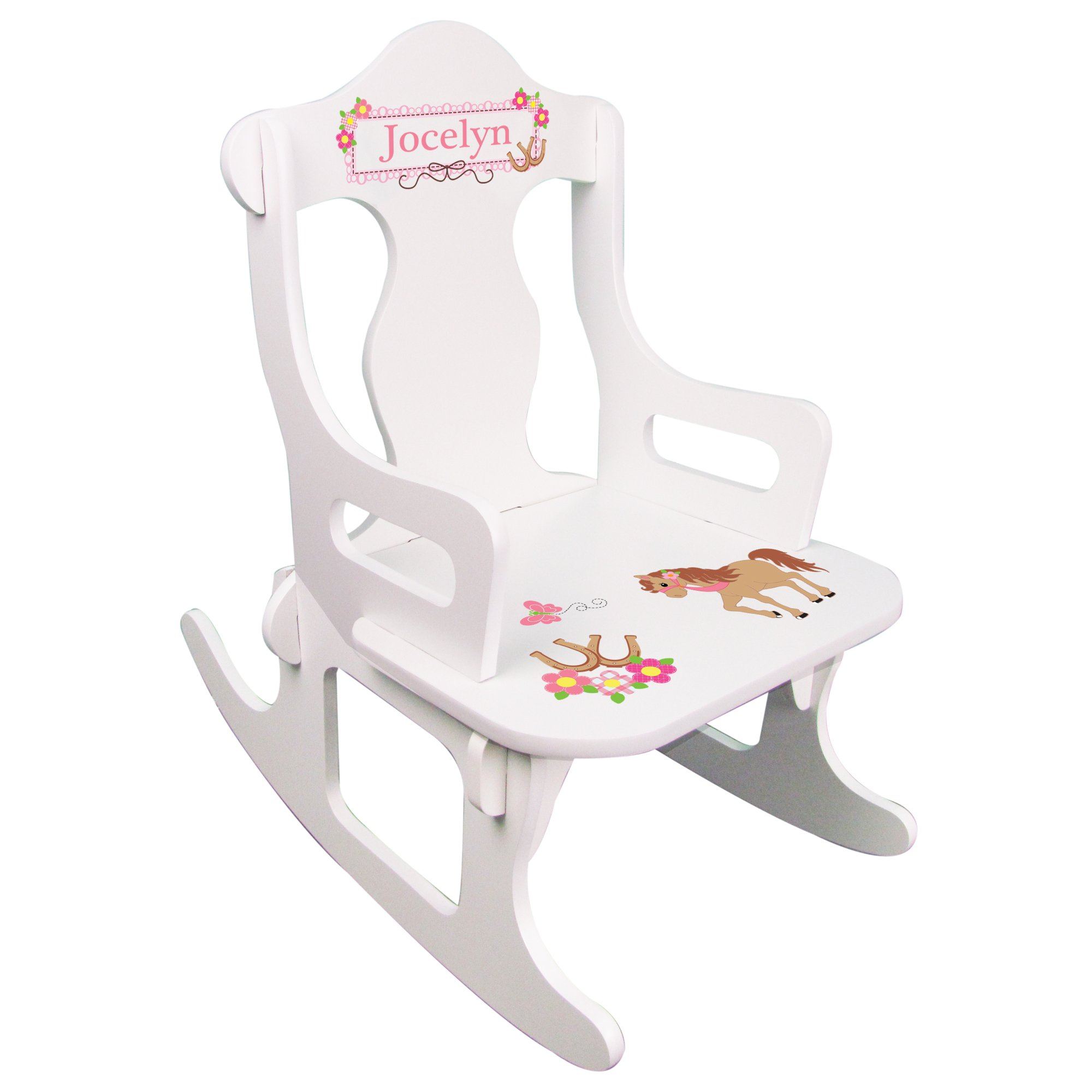 Personalized Child's Pony Puzzle Rocking Chair by MyBambino