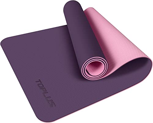TOPLUS Yoga Mat, Non-Slip Texture Pro Yoga Mat Eco Friendly Exercise Workout Mat with Carrying Strap – for Yoga, Pilates and Floor Exercises