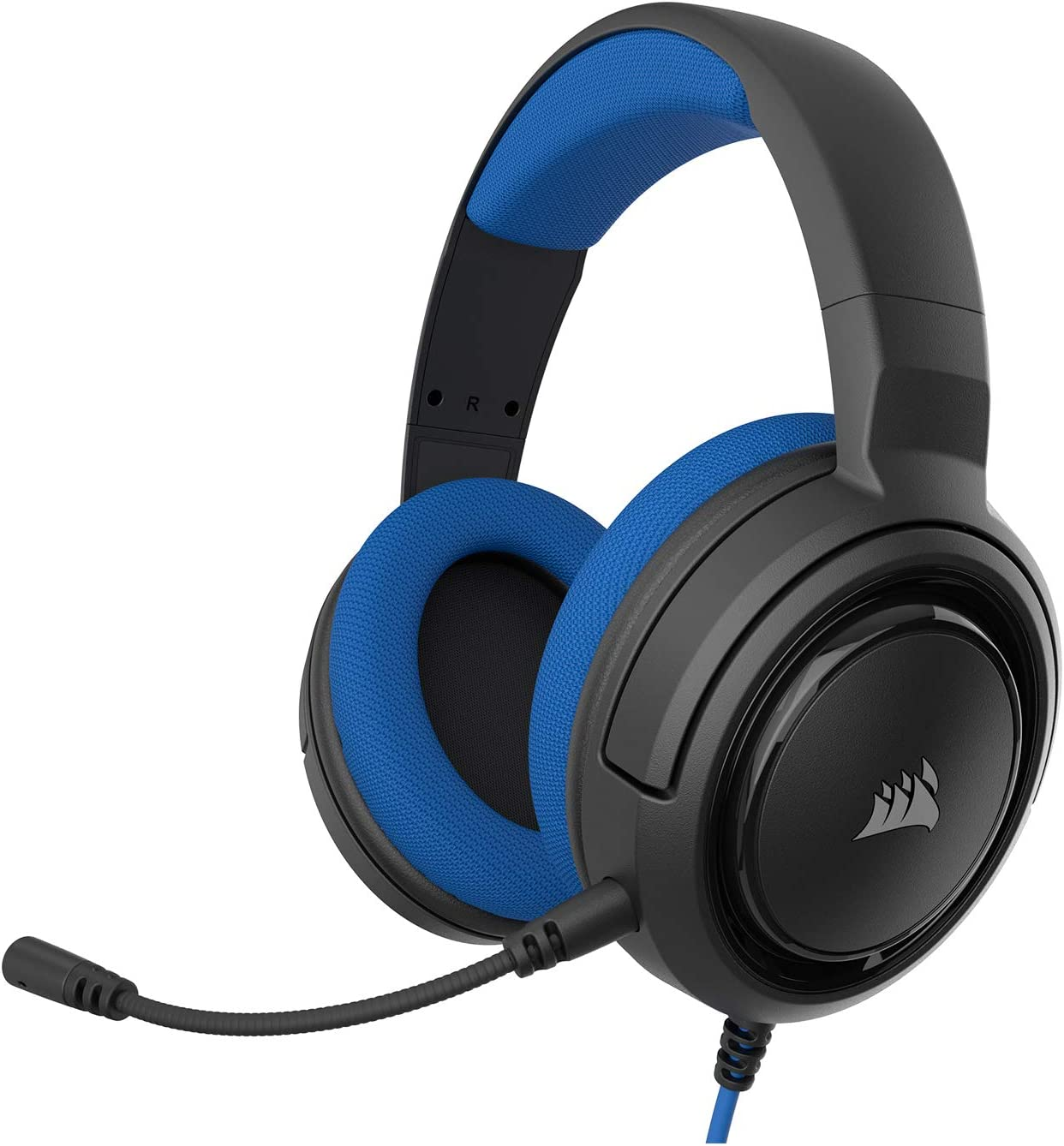 Corsair HS35 - Stereo Gaming Headset - Memory Foam Earcups - Discord Certified- Works with PC, Xbox Series X, Xbox Series S, Xbox One, PS5, PS4, Nintendo Switch and Mobile – Blue