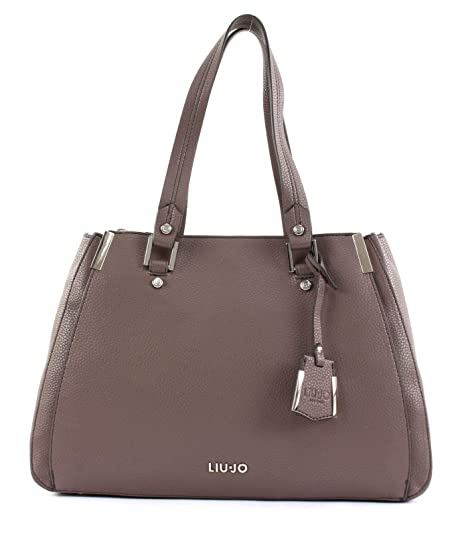 Liu Jo Jeans Borsa a Tracolla Double Zip Satchel in Ecopelle Martellata  Uni  Amazon.it  Scarpe e borse a88d67c8871