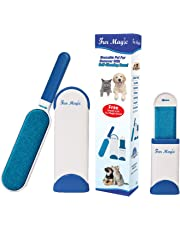 Fur Magic Pet Hair Remover Lint Brush With Self-Cleaning Base, Double-sided Fur Brush with Travel Size Brush for Dog and Cat