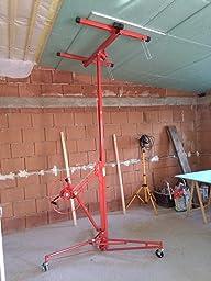 xxl plattenheber f r rigipsplatten 1 mann bedienung bis 350cm und 68kg. Black Bedroom Furniture Sets. Home Design Ideas