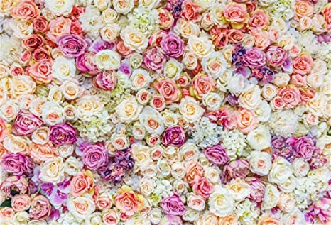 Aofoto 10x7ft Beautiful Wedding Floral Backdrop Sweet Flower Romantic Roses Party Decor Photography Background Girl Lovers Bridal Shower Artistic