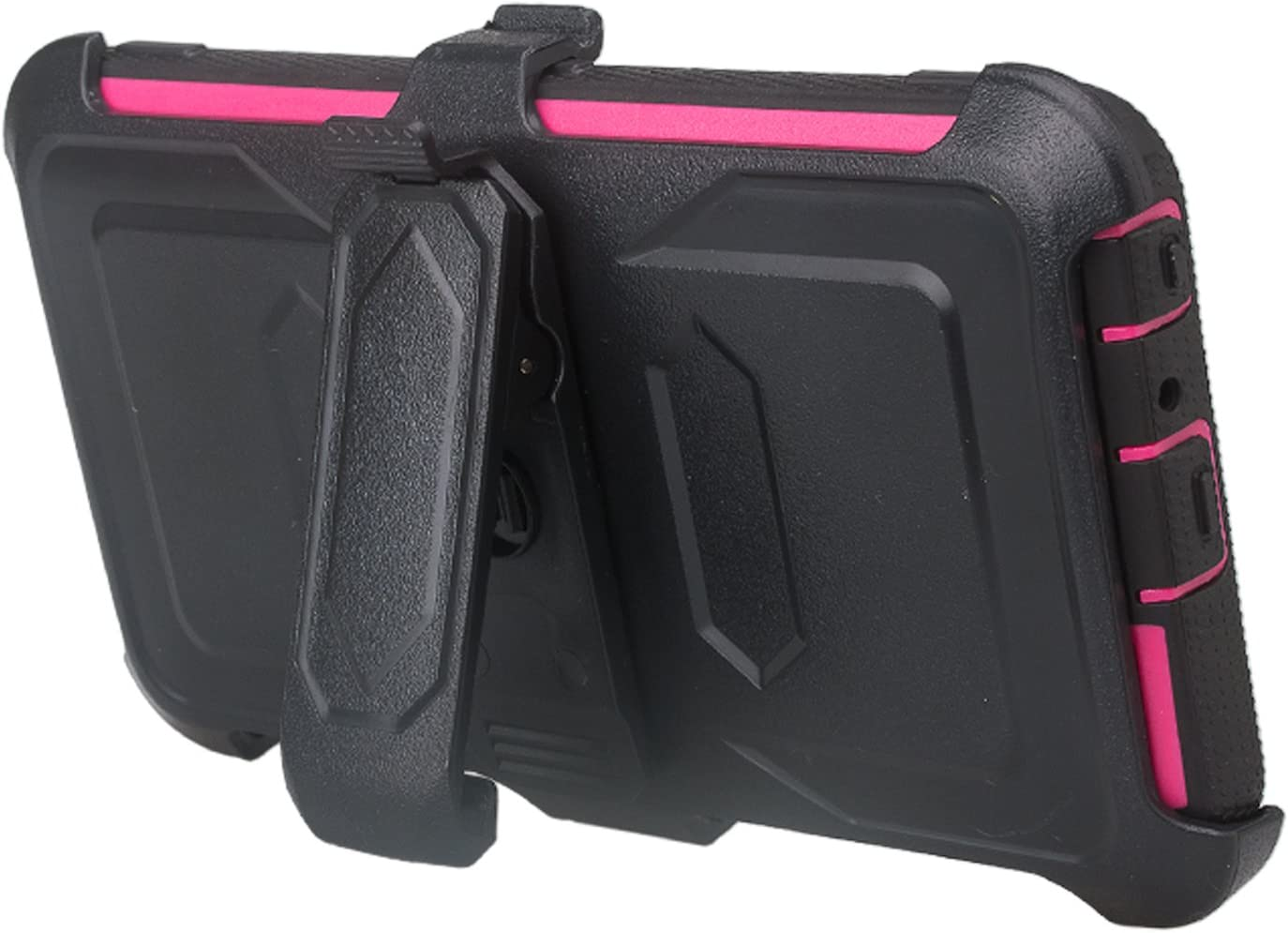 Full Body Case Hot Pink Belt Clip Holster Galaxy Wireless for ZTE ZFive G LTE Z557BL//ZTE ZFive C Z558VL//ZTE Avid 4//ZTE Fanfare 3//ZTE Blade Vantage//ZTE Tempo X//Tempo Go Built in Screen Protector