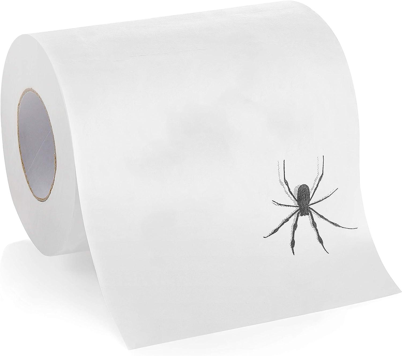 Laila and Lainey Spider Toilet Paper - Prank, Practical Joke, or Gag Gift - Halloween Decoration or White Elephant Gift Idea …