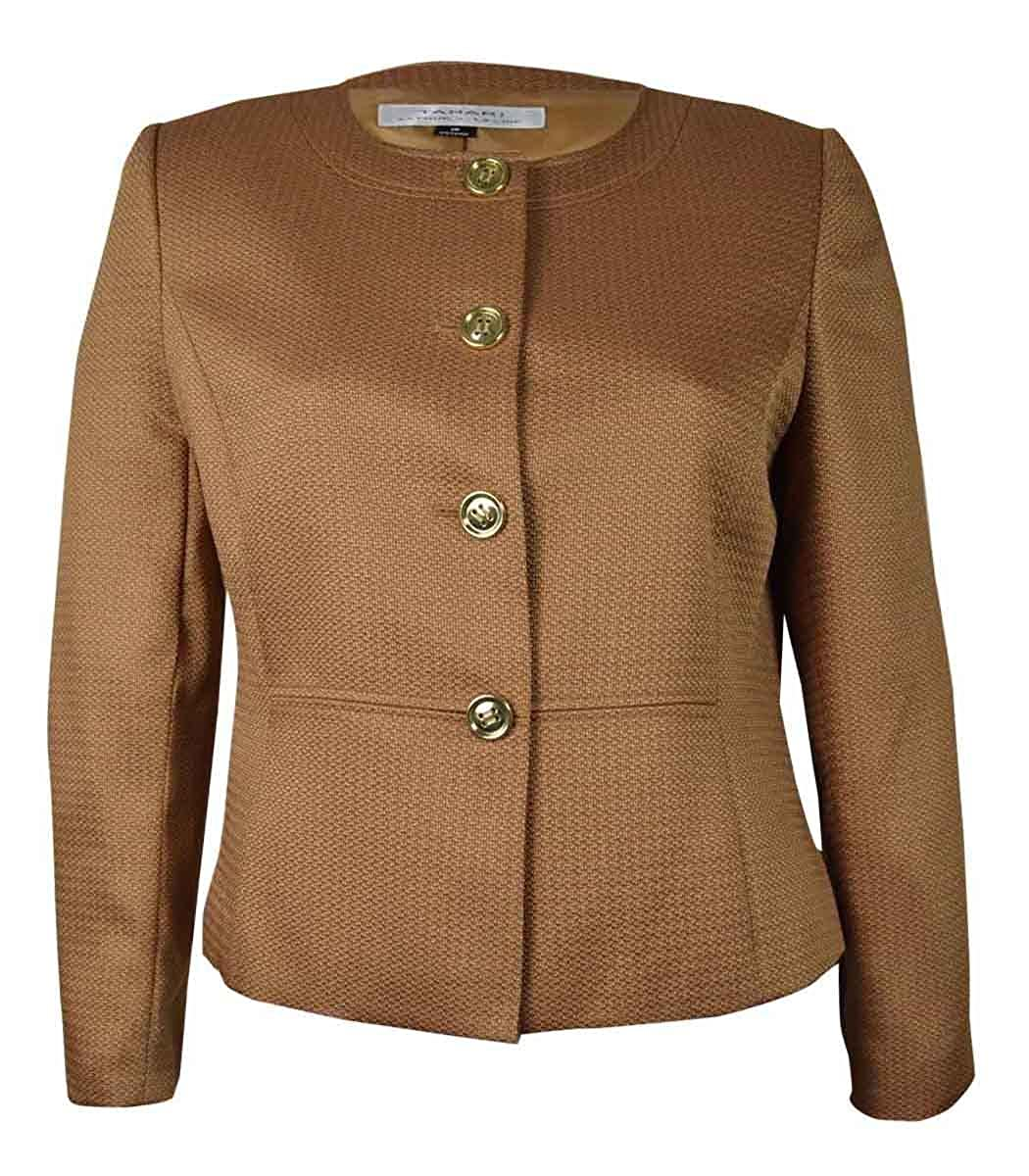 Tahari Women's Woven Vincent Jacket Toast) 00_ZQEWDQ7O_SD