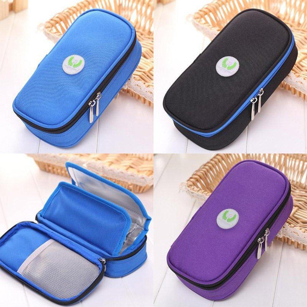 Binglinghua Insulin Pen Case Pouch Cooler Travel Diabetic Pocket Cooling Protector Bag (black) by Binglinghua® (Image #4)