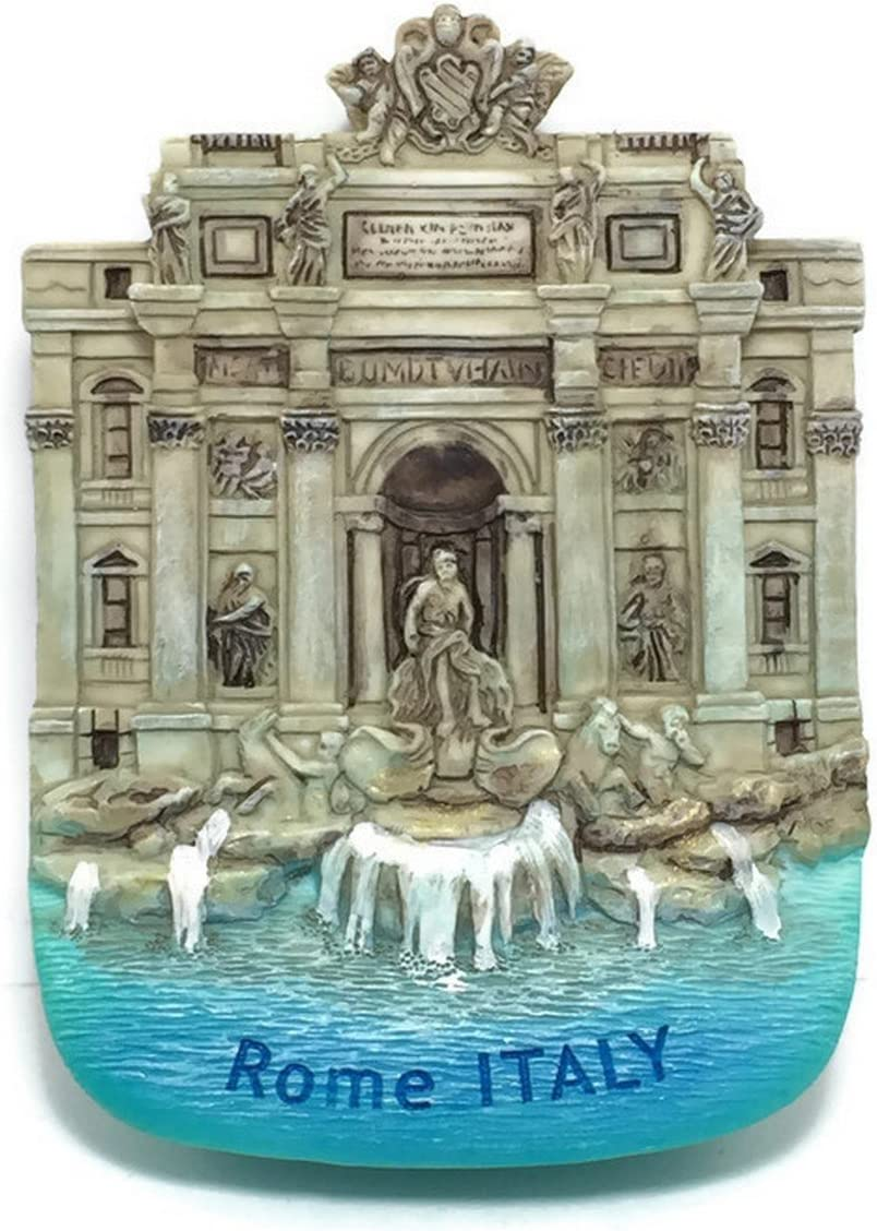 Roma Fontana Di Trivi Rome Italy,high Quality Resin 3d Fridge Magnet