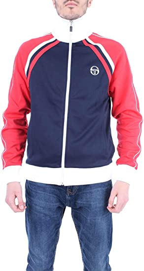 White /& Red McEnroe Business Sergio Tacchini Ghibli Track Top in Navy