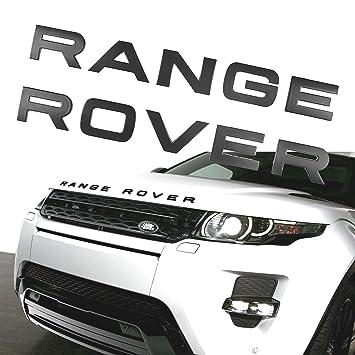 2 x mate negro Range Rover Sport Evoque Velar 3d letras letras insignia capó/Boot: Amazon.es: Coche y moto