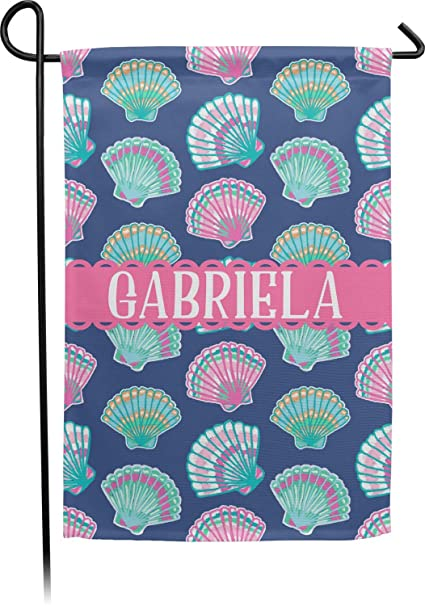 5114bf31679b Amazon.com   RNK Shops Preppy Sea Shells Single Sided Garden Flag ...