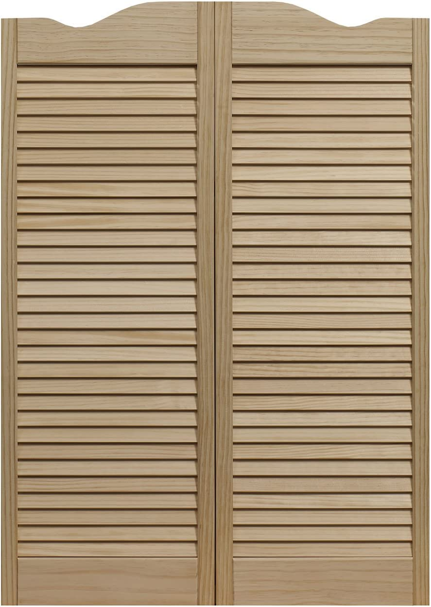 """LTL Home Products 858042 Dixieland Louvered Café Interior Swing Solid Wood Door, 30""""x42"""", Unfinished"""