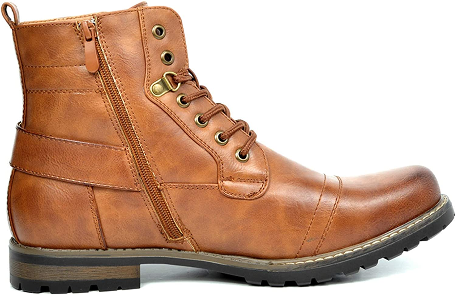 Bruno Marc Mens Military Motorcycle Combat Boots