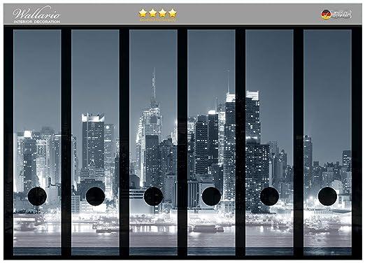 Archivadores pegatinas New York Skyline B/W en CALIDAD ...