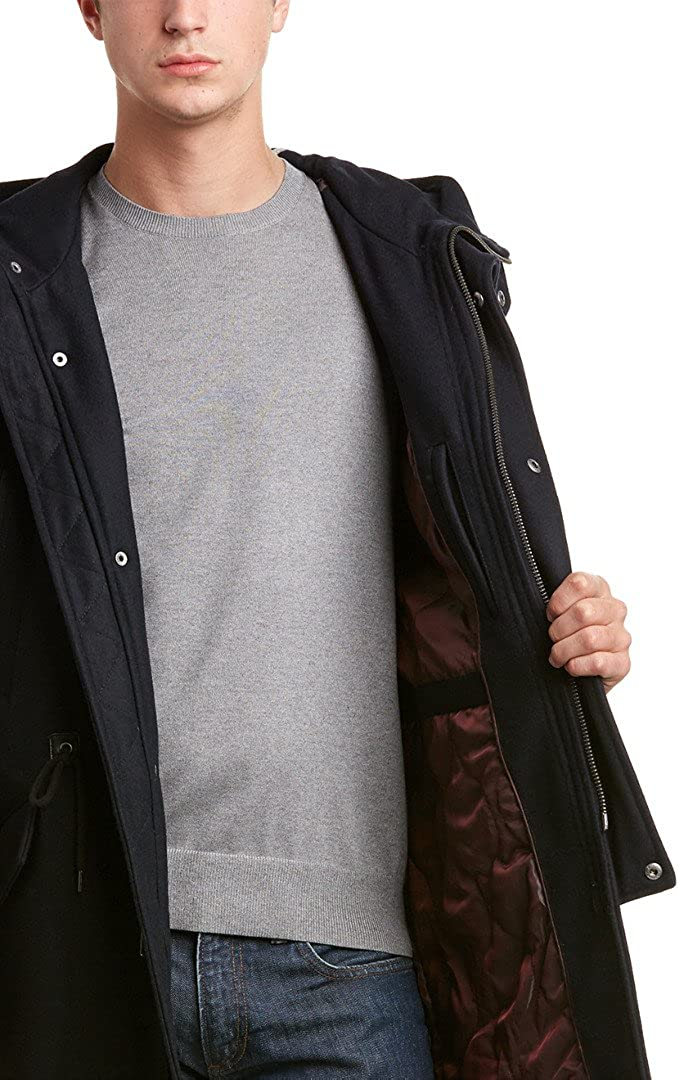 Cole Haan Signature Mens Insulated Hooded Anorak Jacket