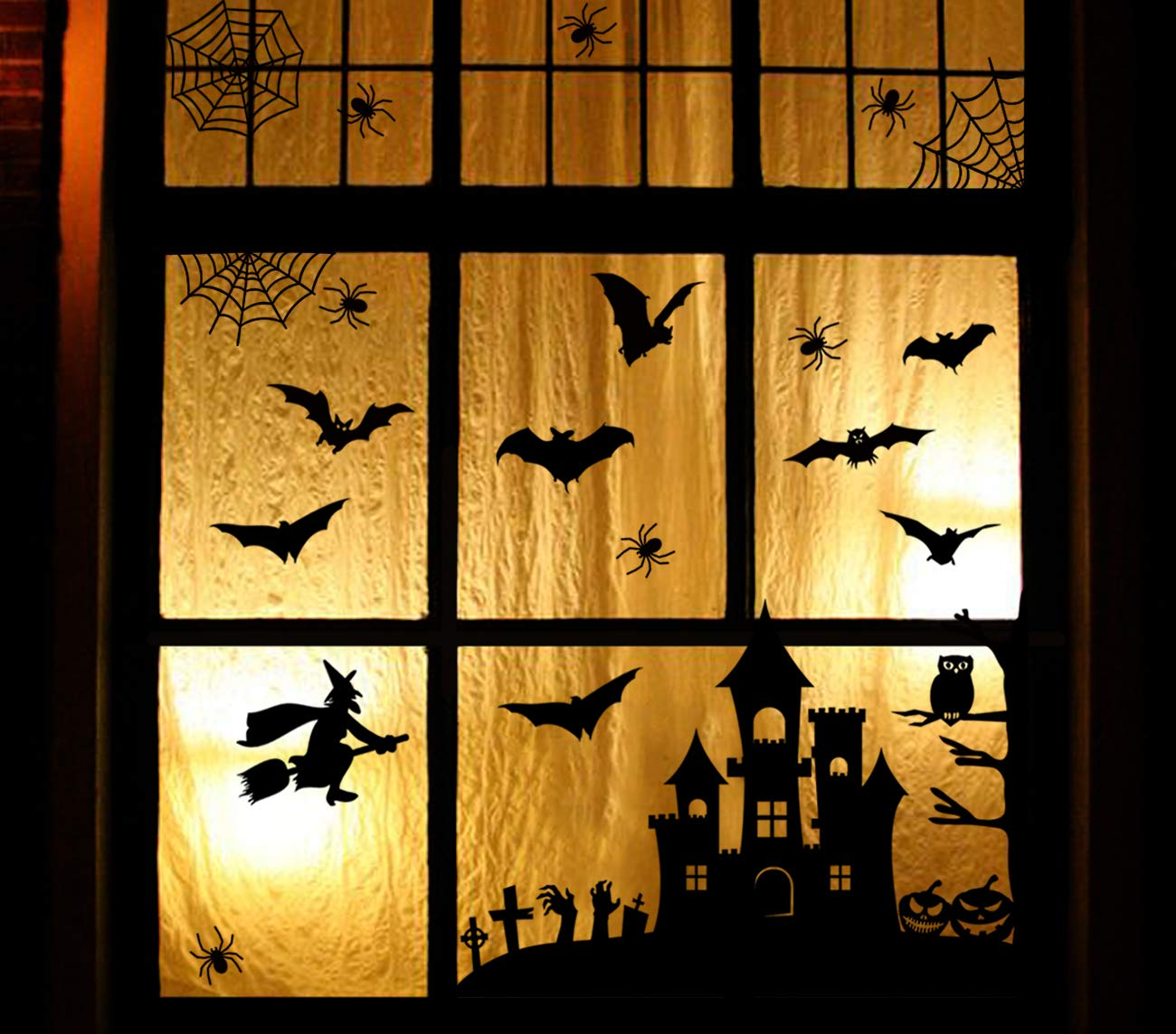 3omething New Halloween Window Clings Decorations Spider Web