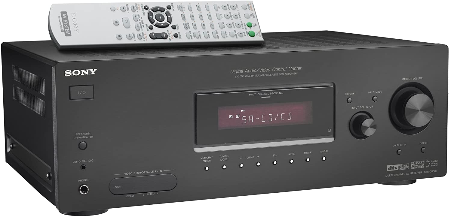 amazon com sony str dg500 6 1 channel home theater receiver rh amazon com sony receiver str-dg600 manual Sony Receiver Troubleshooting