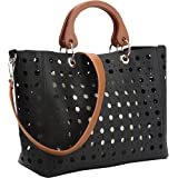 Dasein 2 in 1 Fashion Tote Bag with Cut Out Design